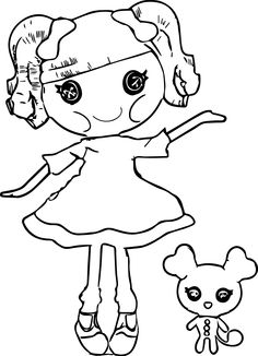 awesome Lalaloopsy Cartoon Coloring Pages