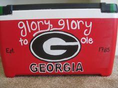 "Back of my cooler from UGA Lambda Chi Alpha's Woodstick 2012. ""Glory, glory to ole Georgia!"""