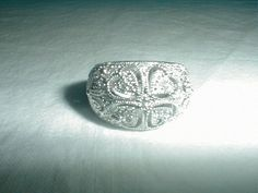 joseph esposito ring sz.7 ring silver ring by qualityvintagejewels