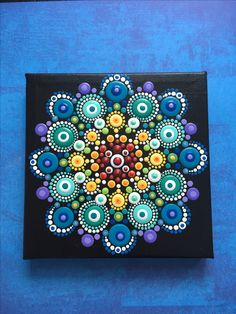 Mandala canvas on Etsy @ ValsMandalas