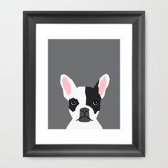 Parker - French Bulldog art print case animal art modern colors for dog people