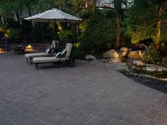 Paver patio and water feature designed and installed by Blessing Landscapes.  www.blessingland.com