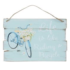 Life Is Like Riding A Bicycle -- Clayre & Eef Dekoschild  Fahrrad