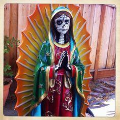 Hand painted Dia de los Muertos statue