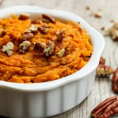 Brown Sugar and Cinnamon Mashed Sweet Potatoes A delicious mashed sweet potato recipe great for the holidays or anytime. – Brown Sugar and Cinnamon Mashed Sweet Potatoes Whipped Sweet Potatoes, Sweet Potato Pecan, Mashed Sweet Potatoes, Sweet Potato Casserole, Sweet Potato Mash, Mash Sweet Potato Recipes, Sweat Potato Recipes, Brown Sugar Sweet Potatoes, Recipes