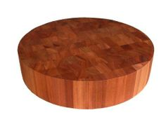 "John Boos 18"" Round American Cherry Chopping Block by John Boos. $161.20. American Cherry. 3"" Thick. Non-reversible. Natural oil finish. End grain construction. Add a handsome yet highly functional tool to your kitchen arsenal with this wooden cutting board from John Boos. Made of solid hard rock maple with edge-grain construction for durability, the reversible cutting board provides two flat sides and slightly rounded edges for comfortable handling. The finely craf..."