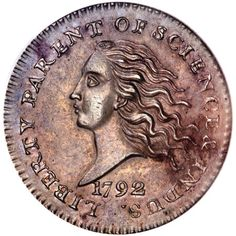 A very nice 1792 Disme. One of the earliest pattern coins paving the way for the modern Dime.