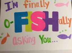 Homecoming Proposal-Fish Theme part one Decorate top of cake box and when she opens it inside is homecoming? With delicious fish cupcakes