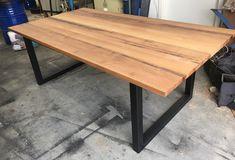 Recycled Tasmanian Oak rustic dining table
