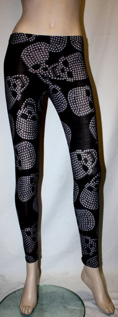Multi Studded Skull Print Leggings | Alternative Clothing | Insanity Clothing | UK