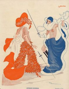 Famous topless duel between women fighting over a floral arrangement...read the true story at the link!