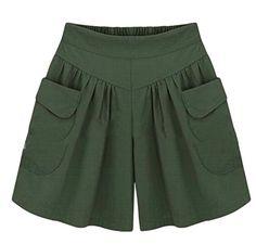 Etecredpow Girl Casual Layered Ruffled Elastic Waist Short Pants