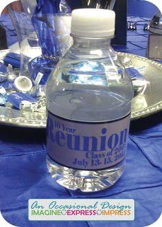 class reunion ideas | High School Reunion Custom Water Bottles | class reunion ideas