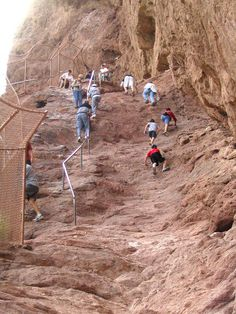 Steepest part of climb, Camelback Mtn. AZ. Can't wait to do this next time ;)