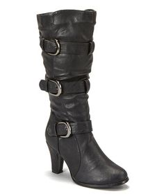 Anna Shoes  -  Black Strap Boot