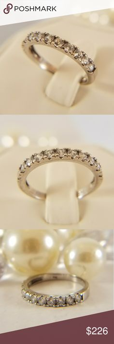 14k Solid White Gold Wedding Band New .14k Solid White Gold Wedding Band 1ct man made Diamond  Available in sizes 5 6 7 8 9 Jewelry Rings