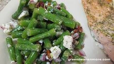 Cold Green Bean Salad with Feta and Pecans - substituting wax beans from csa