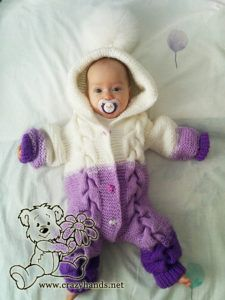 Bear Baby Knit Romper Pattern · Crazy Hands Knitting Bear Baby Knit Romper Pattern · Crazy Hands Knitting Always aspired to figure out how to knit, but uncertain the place t. Baby Romper Pattern Free, Onesie Pattern, Baby Booties Knitting Pattern, Baby Knitting Patterns, Baby Patterns, Knitted Baby Outfits, Knitted Romper, Knitted Dolls, Knitting Bear