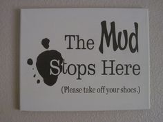 DIY Shoe Removal Canvas Wall Sign using Adhesive Vinyl and Silhouette Cutting Machine