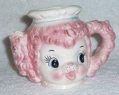 Vintage  Pink Poodle Creamer