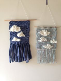 Custom made cloud woven wall hanging by TheUnusualPear on Etsy