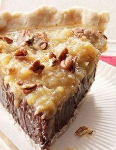 Coconut-Pecan German Chocolate Pie | Gurman chef