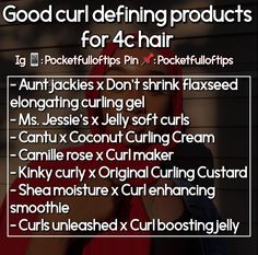 4c hair curling products