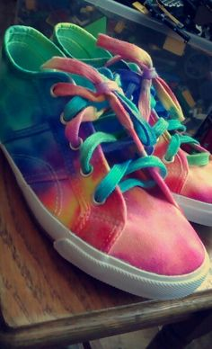 Handmade diy sharpie tie dye shoes