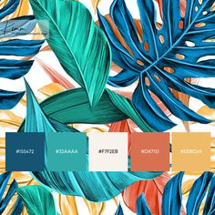 Pantone Colour Palettes, Color Schemes Colour Palettes, Colour Pallete, Pantone Color, Color Trends, Beach Color Schemes, Office Color Schemes, Palette Design, Tropical Colors