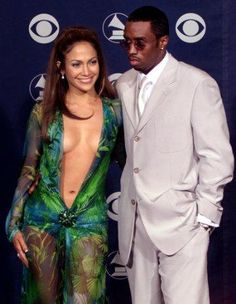 Jennifer Lopez & Diddy at 2000 Grammy Awards