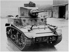 An M3, Stuart I from the British, who developed the welded turret (notice the 'cupola' on the turret, dropped in later models)