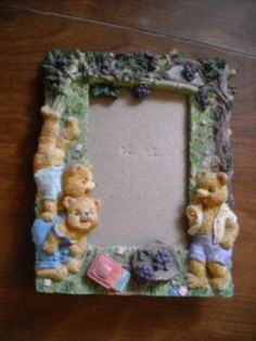 Three Bears Playing Photo Frame ~ for sale at Wenzel Thrifty Nickel eCRATER store
