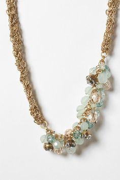 Braided Chain and Bead Cluster Necklace