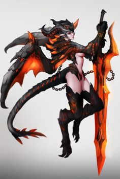Dragon Valkyrie by on DeviantArt Fantasy Character Design, Character Design Inspiration, Character Concept, Character Art, Beautiful Fantasy Art, Dark Fantasy Art, Fantasy Girl, Fantasy Characters, Anime Characters