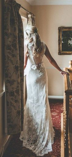 Real bride Caoimhe in the Claire Pettibone 'Laurence' wedding dress