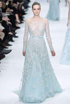 Blaire's Wedding dress from GG!!  Elie Saab 2012 - Ice Blue / Winter Wedding