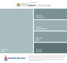 I found these colors with ColorSnap® Visualizer for iPhone by Sherwin-Williams: Magnetic Gray (SW Comfort Gray (SW Serious Gray (SW Storm Cloud (SW Steely Gray (SW