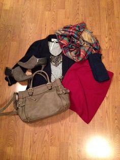 nordstrom rack top, target blazer, target blanket scarf, forever 21 scarf, payless booties, target bag