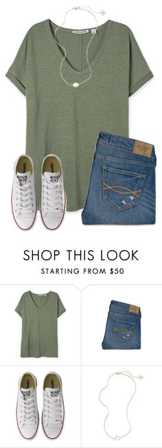 """""""{It's getting cold again}"""" by star-lit-fashion ❤ liked on Polyvore featuring Abercrombie & Fitch, Converse and Kendra Scott"""