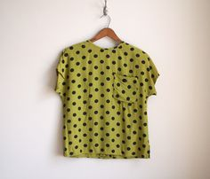 Polka Dot Blouse// Never met a polka dot I didn't like. And chartreuse? Shut up. Get in my closet.