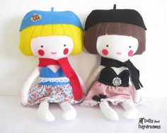 Dress Up Doll Sewing Pattern PDF Instant by DollsAndDaydreams