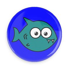 Funny Buttons - Custom Buttons - Promotional Badges - Cute Animals Pins - Wacky Buttons - Fish