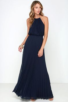 Bariano Melissa Navy Blue Maxi Dress so love the flow of this dress
