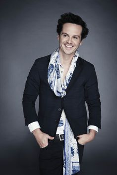He is the creepiest Moriarty EVER, but there's something cute about his face. ~Andrew Scott