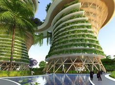 Galería de Los eco-barrios 'Hyperion' de Vincent Callebaut producen energía en la India - 22