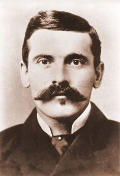 """John """"Doc"""" Holliday 1852-1887. Buried in the same cemetery as my gggrandfathet"""