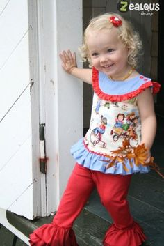 Cassidy Round Yoke A-Line Top or Dress PDF Sewing Pattern 6M-8Y