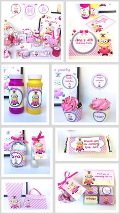 Minion Girl Party | Girl Minion Party | Pink Minion Party Ideas | Girl Minion Party Decoration