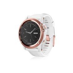 GARMIN Fenix 3 Sapphire Rose Gold Gps Watch ($718) ❤ liked on Polyvore featuring garmin watches, garmin wrist watch and garmin