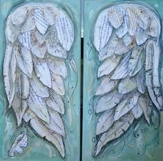Angel wings painting. FLY. Wings of Love por MichelleLakeArt
